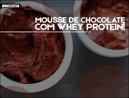 Receita de mousse de chocolate whey protein