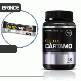Óleo de Cártamo (120 Caps) + Whey Bar Low Carb (40g)