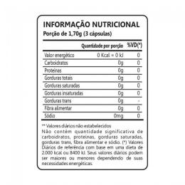 Berinjela 450mg (60 caps) - Tabela Nutricional